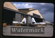1950s Kodachrome photo slide USAF F-84 Military jet airplane Kisarazu AB Japan 1