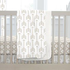 Baby Blanket in Taupe Arrow by Carousel Designs.