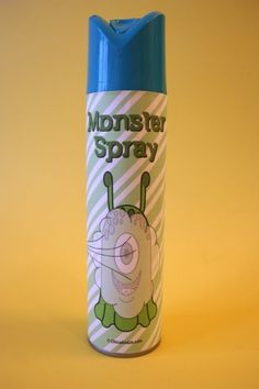 """My Dad used to come to our rooms armed with ""Monster Spray"" when we had nightmares. He sprayed it under the bed, in my shoes, all the places monsters might hide. I loved it, the scent comforted me til I fell asleep.""--this idea is genius."