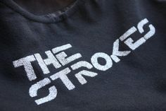 The Strokes - Upcycled Rock Band T-shirt Purse - OOAK $21
