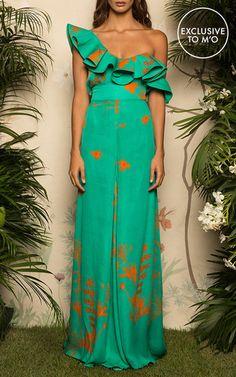 M'o Exclusive Montigo Bay One Shoulder Top by JOHANNA ORTIZ Now Available on Moda Operandi
