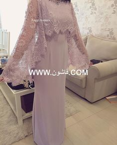 Elegant Long Mother Of The Bride Dresses With Lace Wrap New Lady Wedding Party Gowns Women Evening Formal Wear Kebaya Hijab, Kebaya Dress, Abaya Fashion, Muslim Fashion, Fashion Dresses, Hijab Dress Party, Party Gowns, Pretty Dresses, Beautiful Dresses