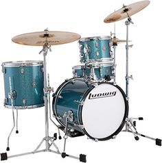 Ludwig Breakbeats by Questlove 4Piece Shell Pack Azure Sparkle * You can find out more details at the link of the image.(It is Amazon affiliate link)