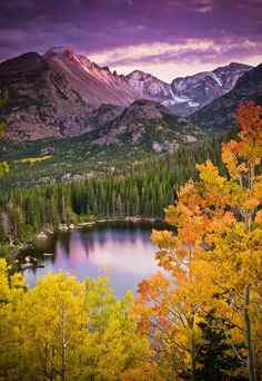 Beautiful Rocky Mountain National Park.  This is where we went on our honeymoon.