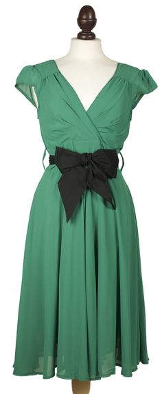 This beautiful dusty green 50 in spired dress is simple, elegant, timeless piece.