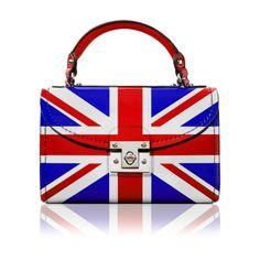 A handbag with a design of the Union Jack.