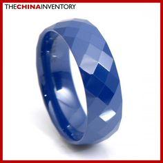 8MM SIZE 10 BLUE CERAMIC WEDDING BAND RING R3414 Wholesale Jewelry, Wedding Ring Bands, Band Rings, Rings For Men, Size 12, Engagement Rings, Ceramics, Blue, Enagement Rings