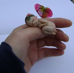 One of a kind Tiny Sleeping Fairy Baby  MADE TO by jackymullen, $65.00