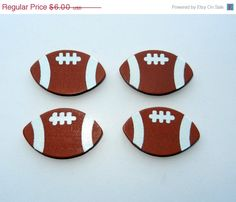 ON SALE Painted Football Magnets Set of 4 by CloudNineDesignz, $4.20
