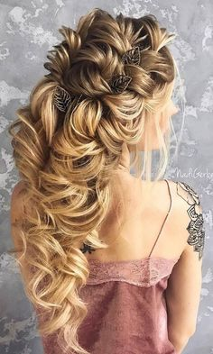 Nadi Gerber Long Wedding Hairstyles / http://www.deerpearlflowers.com/long-wedding-hairstyles-from-instagram-hair-gurus/4/