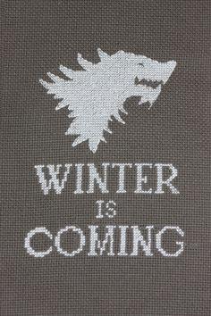 gameofthrones:    'Winter is Coming' cross stitch