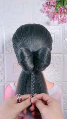 Hairdo For Long Hair, Easy Hairstyles For Long Hair, Headband Hairstyles, Cute Girls Hairstyles, Hair Style Vedio, Hair Tutorials For Medium Hair, Girl Hair Dos, Hair Up Styles, Stylish Hair