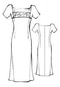 Выкройка платья с короткими цельнокроеными рукавами   pokroyka.ru-как сшить юбку, брюки, платье, пиджак, журналы по шитью