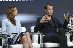 #SophieSkelton and #TobiasMenzies ~ on stage during the #TCA17 for #Outlander . Via FarFarAway . #OutlanderStarz #OutlanderSeries #OutlanderSeason3
