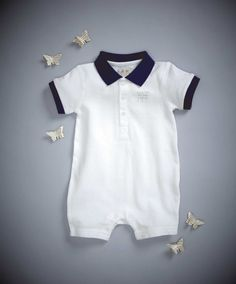 Pique Baby Romper - Welcome To The World