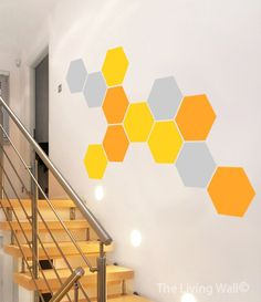 Honeycomb Wall Decal Geometric hexagons Vinyl Decal by LivingWall