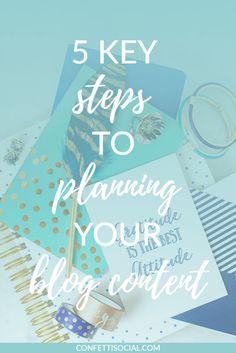 Planning blog conten