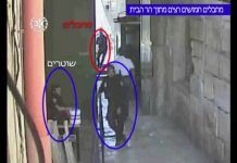 Warning: Graphic – Security Camera Footage from Start of Temple Mount Terror Attack