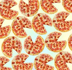 repeating pizza background - photo #16
