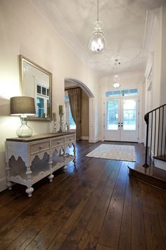 Entryway- love the buffet!