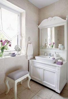1/2 BATH SHABBY CHIC  LOVE IT 28 Lovely And Inspiring Shabby Chic Bathroom Décor Ideas | DigsDigs