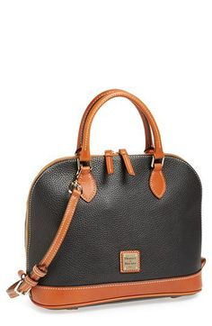 Dooney & Bourke 'Pebble Grain Collection' Water Repellent Leather Zip Satchel | Nordstrom