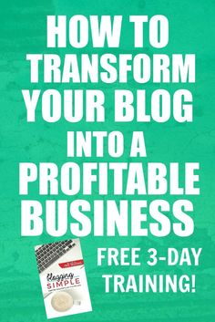 Have you ever felt like you are spinning your wheels when it comes to your blog? Like no matter what you try, you can't seem to get more readers or generate more income? This FREE 3-day video training will help with all of that AND MORE!! Grab your spot now ... don't let the class fill up without you!!