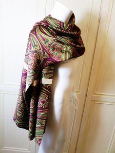 Sciarpa in lana e seta fantasia cashmere : Sciarpe, foulard, cravatte di antonio-forte