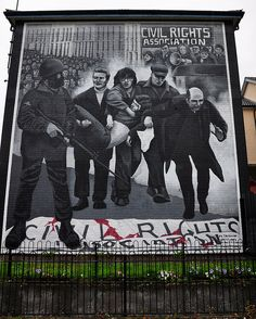 Bloody Sunday Mural. Derry. Northern Ireland.