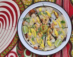 Vegan Magic Time: Sweet Potato, Arugula & Black Bean Quesadillas wit...