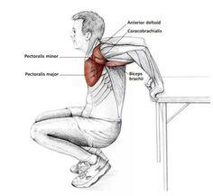 Reverse chest stretch