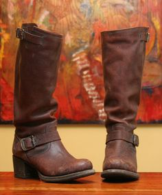 Love my black Frye boots... want a pair of these.