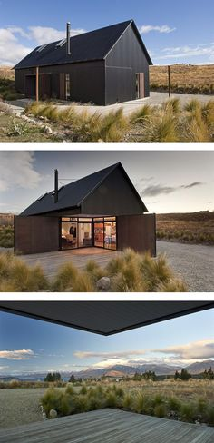 Black house. Tekapo Shed by C Nott Architects
