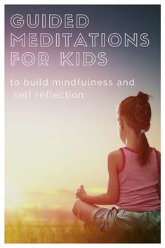 Guided imagery and relaxations are great ways to introduce mindfulness and meditation to kids. Help them calm down at home or at school, at the end of a kids yoga class, or in a stressful moment. Mindfulness for Kids Guided Imagery Meditation, Meditation Kids, Mindfulness For Kids, Meditation For Beginners, Mindfulness Activities, Daily Meditation, Mindfulness Meditation, Reiki Meditation, Meditation Tattoo