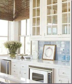 Love the light blue subway tile, basically the whole look!