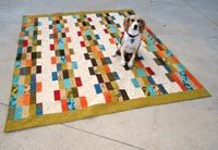 Last Minute Jelly Roll Wedding Quilt