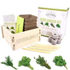 Indoor Herb Garden Kits for those that want an indoor herb garden. Check out these fantastic indoor herb garden kits which make a gift for a gardener