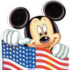 Mickey Mouse...Of course he loves his country...
