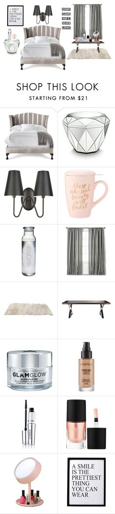 """Cozy Bedroom"" by zahratsa on Polyvore featuring interior, interiors, interior design, home, home decor, interior decorating, Haute House, Amara, Pangea and GlamGlow"