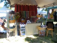 {craft booth setup} love the scarf idea