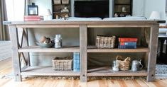 Easy diy sofa table entryway table image of easy diy sofa table sofa End Table Plans, Coffee Table Plans, Bench Plans, Easy Woodworking Projects, Easy Diy Projects, Woodworking Plans, Diy Furniture Plans, Furniture Projects, Diy Sofa Table
