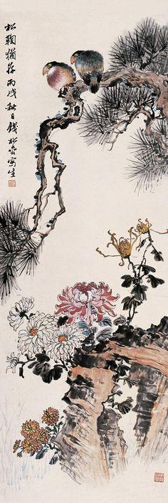 Qian Songyan(钱松嵒) ,    松菊犹存