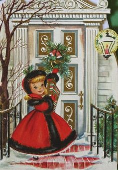 Vintage Christmas Card. Reminds me of my sweet gramma Reed.