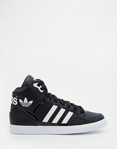2c05c07c4229ab adidas Originals Extaball Black High Top Trainers at asos.com