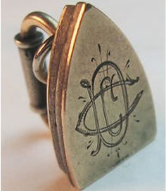 Hand-Engraved Victorian Iron Charm ~ From The Estate of Joan Munkacsi