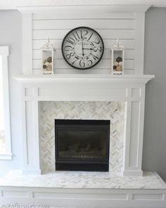 manteau foyer céramique blanc