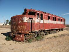 Abandoned NSU Locomotive at Marree SA