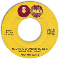 marvin gaye 45   label stubborn | Marvin Gaye - You're A Wonderful One/ When I'm Alone I Cry