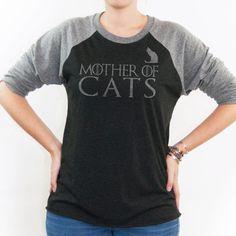 Camiseta camisa - madre de los gatos - juego de tronos de la mujer del gato