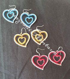 Earrings made by @creazionifantas *** Le Maddine & Maddy https://www.facebook.com/groups/531953423561246/ *** #madeinfacebook #lemaddine #handmade #handcrafted #instagram #instapic #instagood #picoftheday #instacool #cool #cute #handmadeinitaly #craft #handmadewithlove #fattoamano #creativity #madeinitaly #instaphoto #instahandmade #photooftheday #jewelry #jewellery #jewels #jewel #bijoux #handmadejewelry #lace #heart #crochet #creazioniefantasia